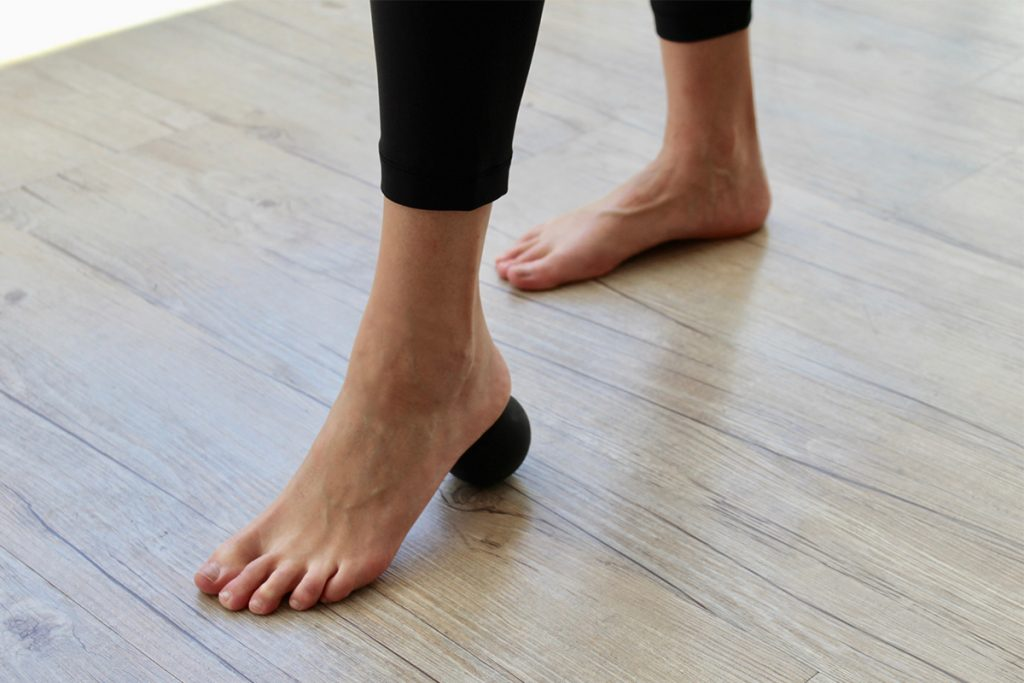 Trigger point foot exercise